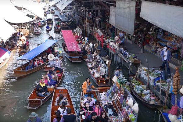chợ nổi bangkok