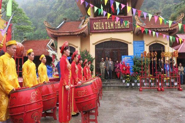 lễ hội chùa tam thanh